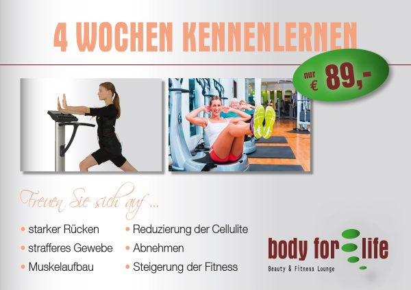 Aktion Body for Life 4 Fitness für 89,00 €